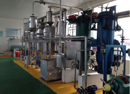 Small vegetable oil refining plant