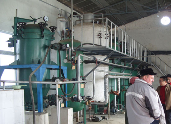 Palm oil refinery machines