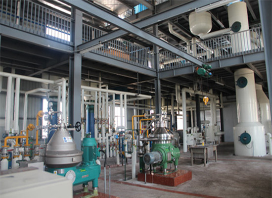 Corn germ oil refinery plant