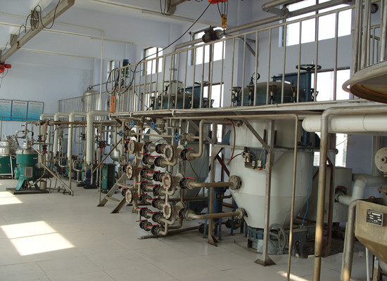 Physical type fully-continuously palm kernel oil refinery plant