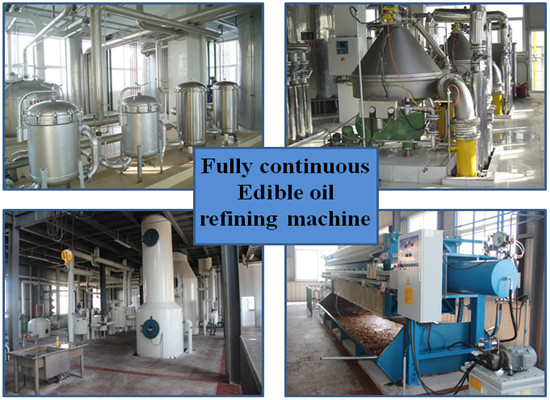 Groundnut crude oil refinery machine