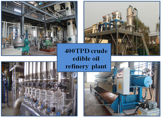 400TPD crude edible oil refinery plant