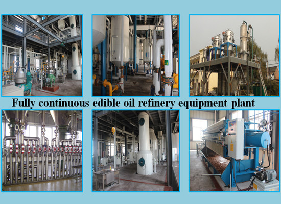 High technology continuous cooking oil refinery plant