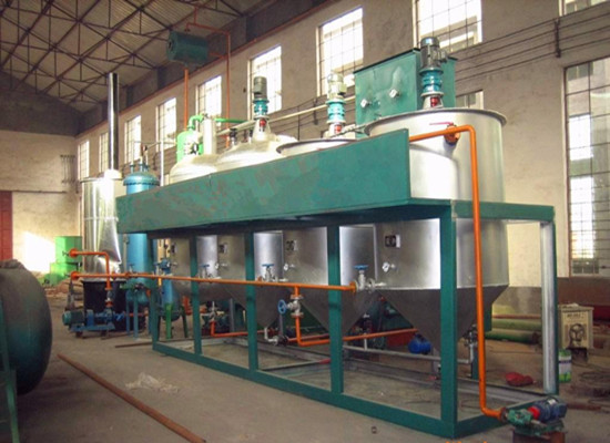 Edible oil refining production line