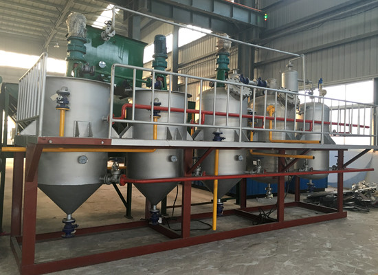1-20TPD sunflower oil refinery plant