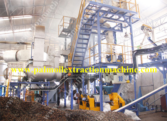 Dry type palm oil making machine