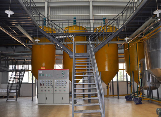 Different typs of edible oil refinery plant