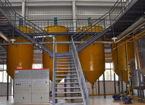 Small scale sunflower oil refining process machinery