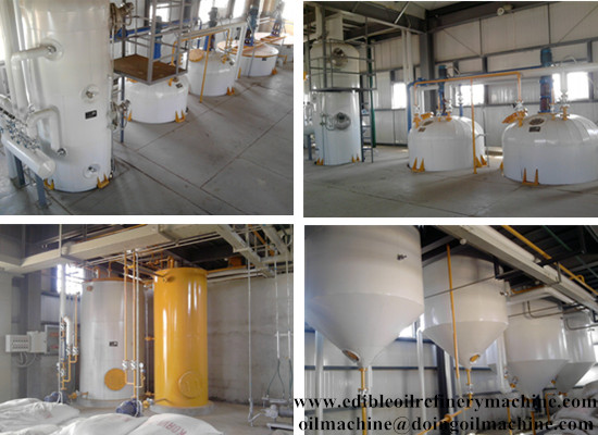 Crude edible oil refining process machinery/vegetable oil refining machine
