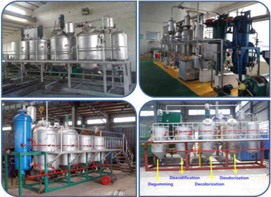 Automatic sunflower oil refinery plant