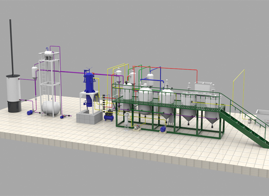 Edible palm kernel oil refining process