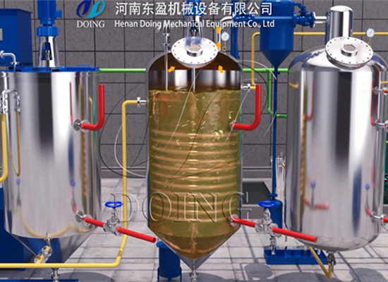 1TPD mini edible oil refinery machine cooking oil refining line process