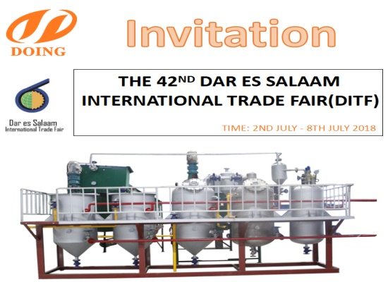 Welcome to visit Doing Company at the 42nd Dar Es Salaam International Trade Fair (DITF)
