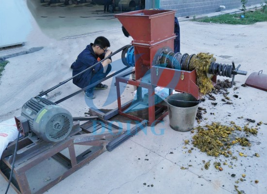 Doing Company's new designing palm oil extraction machine with 0.5tph capacity successfully passed the test