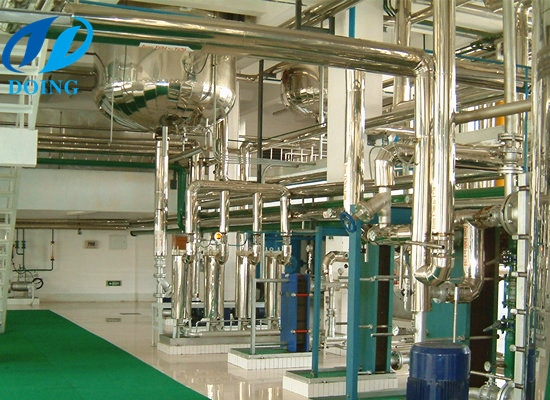 200TPD physical refining full continuous soybean oil refinery machine