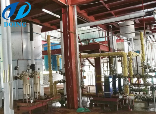 Kenya's 100tpd palm oil refinery plant with fractionation machine has just complete installation