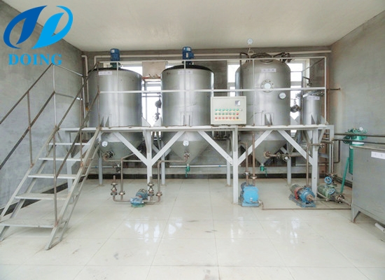 Batch type small soybean oil refining machine