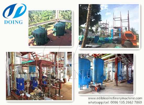 100TPD palm oil refinery and fractionation plant project report in Kenya