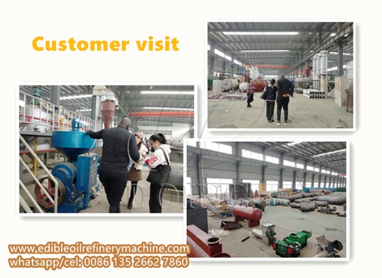 Zambian customer came to visit Doing Factory for soybean oil refining machine