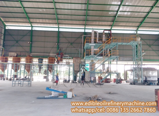 5-30tpd palm oil refining machine installing process in Indonesia