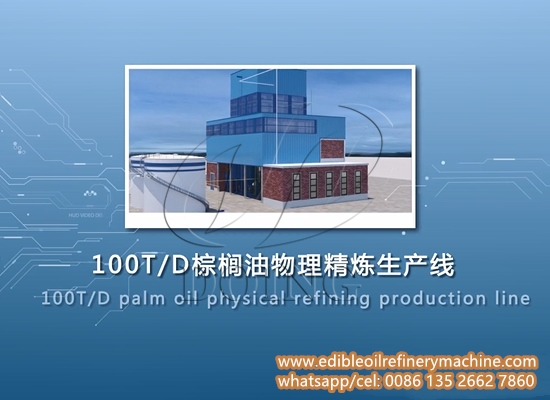 Continuous palm oil physical refinery process part 1 (3D video)