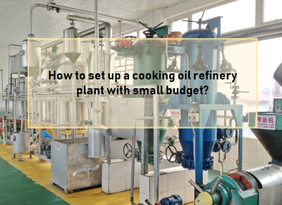 How to set up a cooking oil refinery plant with small budget?