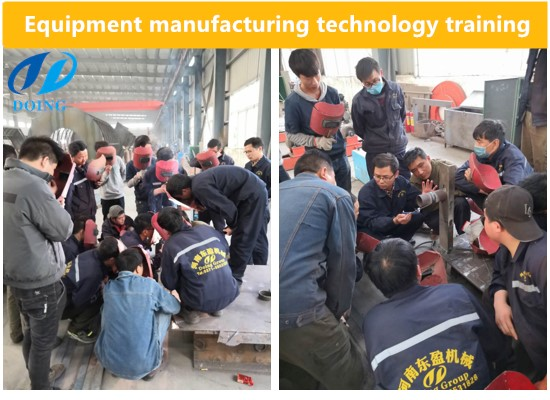 Henan Doing Company held a stuff training on improving welding technology