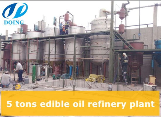 How much cost is needed to buy 5 tons edible oil refinery plant?