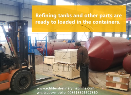 All the machines of 5tpd palm oil refinery plant project are ready to send to Malaysia