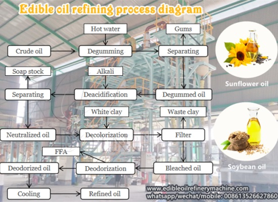Vegetable oil refining, bleaching and deodorizing process introduction