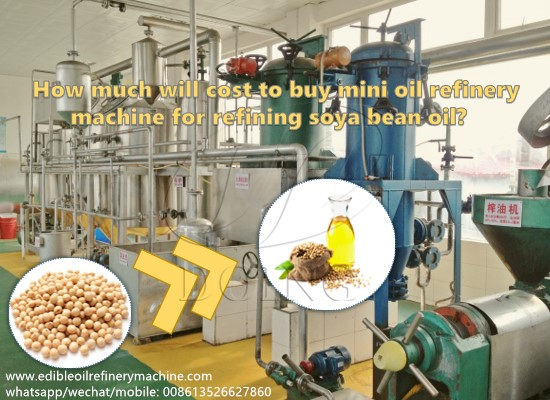 How much will cost to buy mini oil refinery machine for refining soya bean oil?