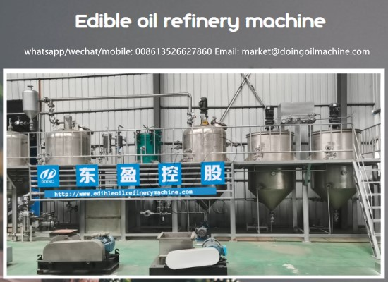 Welcome you to inspect the 2tph stainless steel cooking oil refining machine of Henan DOING, Glory Company