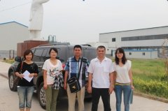 Peanut oil refining machine customer come to visit our factory