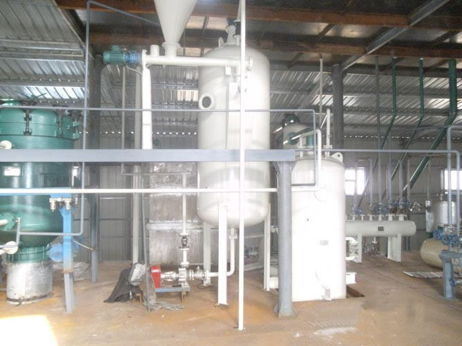 Finished installed palm oil refinery plant.