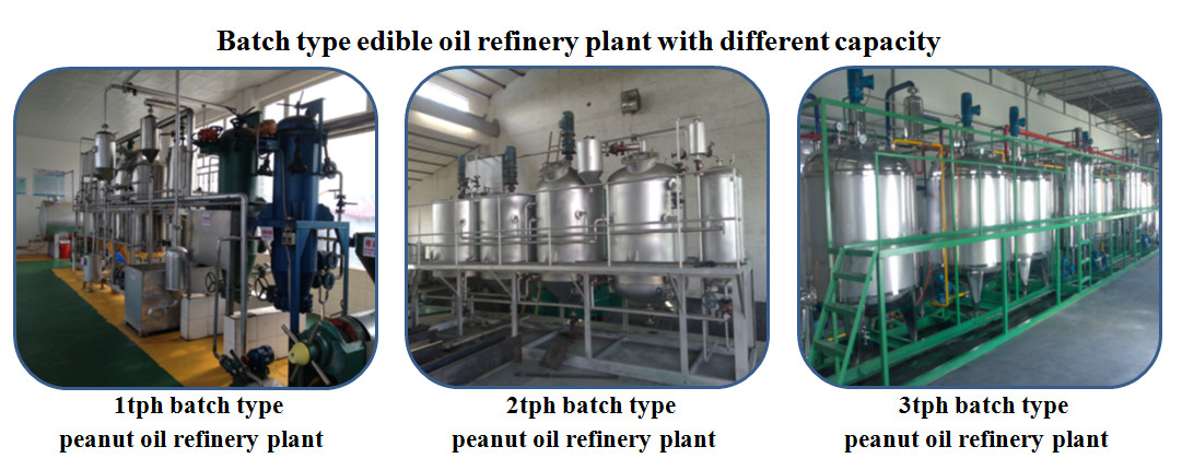 different capacity peanut oil refinery machine
