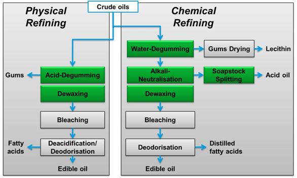 physical and chemical edibel oil refining machine