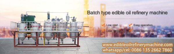 batch type soybean oil refinery plant