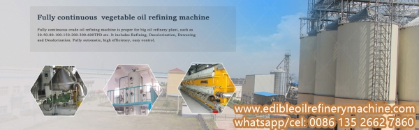 continuous edible oil refinery plant