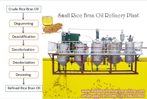 rice bran oil refining process