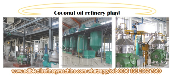 coconut oil refinery plant