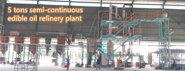 How much cost is needed to buy 5 tons edible oil refinery plant?_