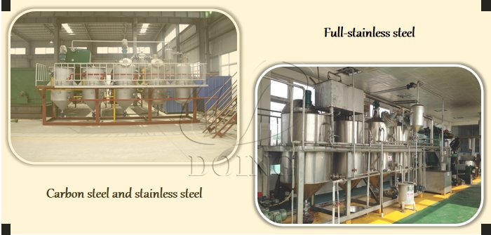 small scale edible oil refining equipment